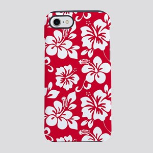Red Hawaiian Hibiscus iPhone 8/7 Tough Case